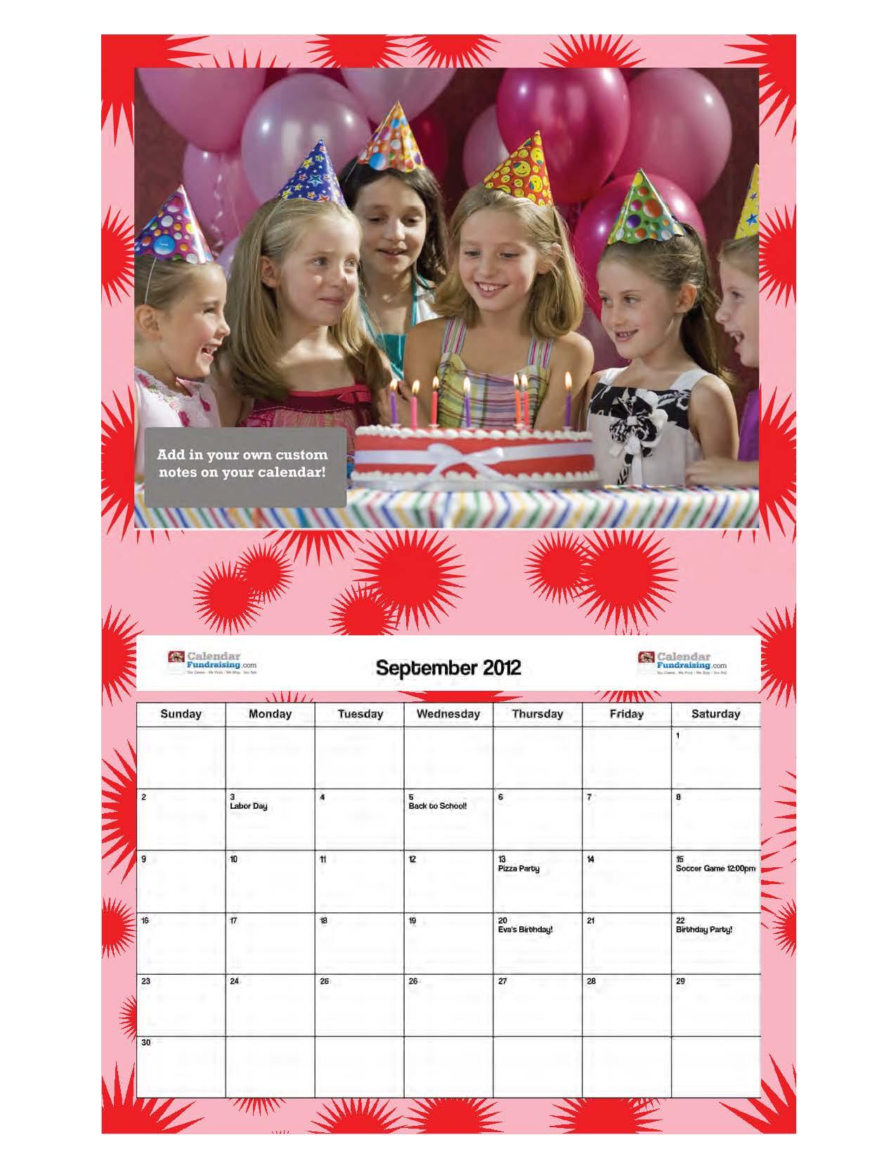 Copyright 2018 Calendar Fundraising